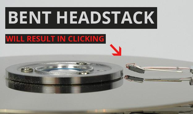 Damaged Read&Write Head-Stack
